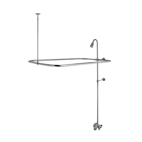 how to add a shower to a bathtub add a shower kit for clawfoot tub in chrome danco