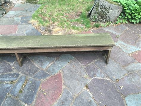 Handmade Garden Bench - antique american handmade outdoor garden bench