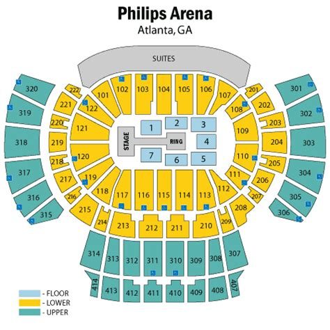 philips arena floor plan wwe world wrestling entertainment march 26 tickets