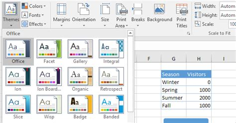 adding themes to excel themes in excel easy excel tutorial