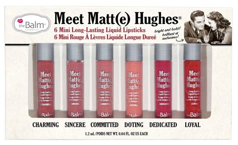 The Balm Meet Matt E Hughes Mini Kit Shades Baru Diskon the balm meet matt e hughes mini lipstick set be beautiful