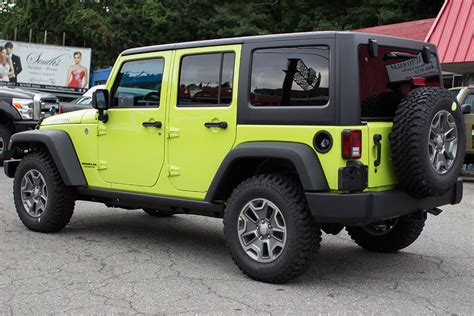 Green Jeep Wrangler 2016 Jeep Wrangler Rubicon Unlimited Hyper Green