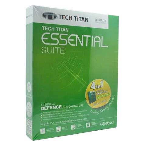 tech titan 4 in 1 essential suite with kaspersky anti