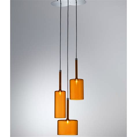 Orange Pendant Light Axo Light Spillray Spspill3arcr12v Orange Pendant Ceiling Light Axo Light From Lightplan Uk