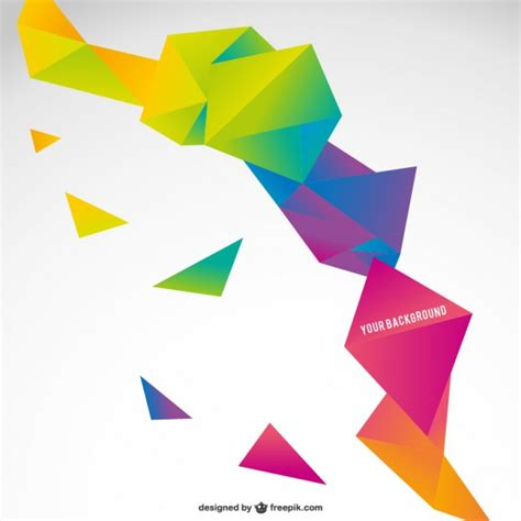 Free Origami - origami colorful abstract template vector free