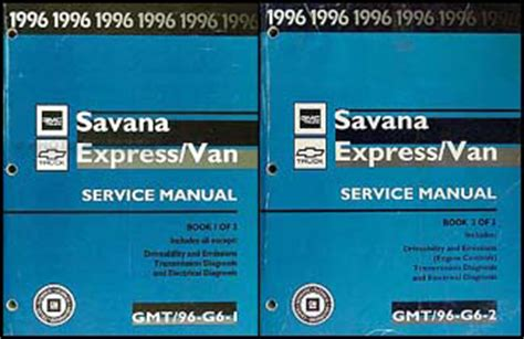 service manuals schematics 1996 chevrolet express 3500 lane departure 1996 chevy express gmc savana van repair shop manual set