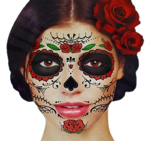 day of the dead face tattoos day of the dead sugar skull