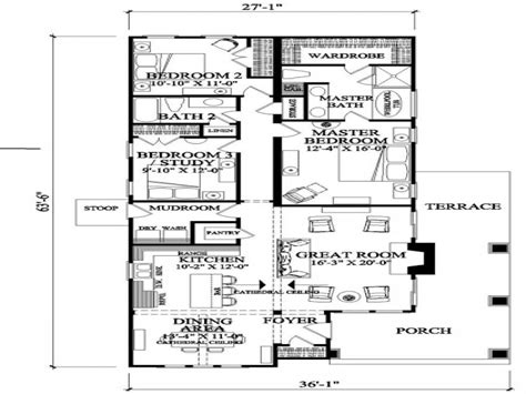 narrow house floor plans craftsman house floor plans narrow lot craftsman house