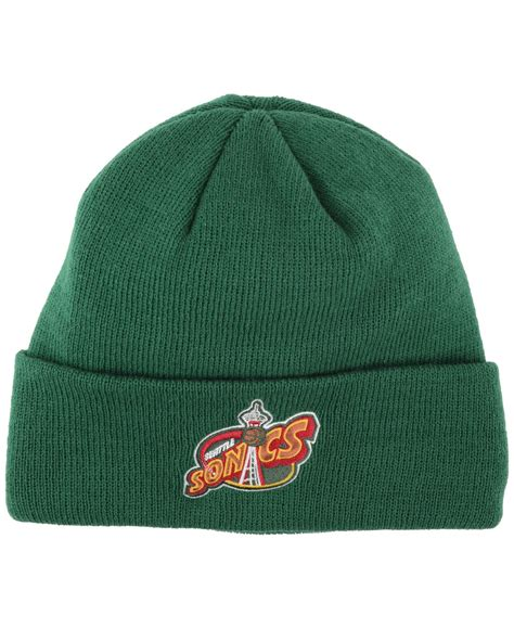 adidas knit hat adidas seattle supersonics cuff knit hat in green for