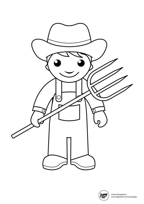 community helpers coloring pages for toddlers farmer printable coloring pages farmers