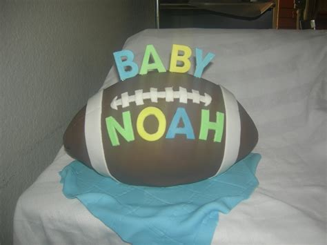 Baby Shower Cakes With Blocks by Baby Blocks With Football Baby Shower Cake Cakecentral