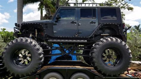 monster jeep 2007 jeep wrangler monster truck lifted off road youtube