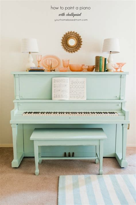how to paint a piano with chalkpaint your homebased mom