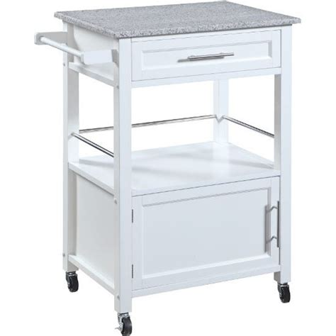 linon kitchen island mitchell mobile kitchen cart with granite top in black or