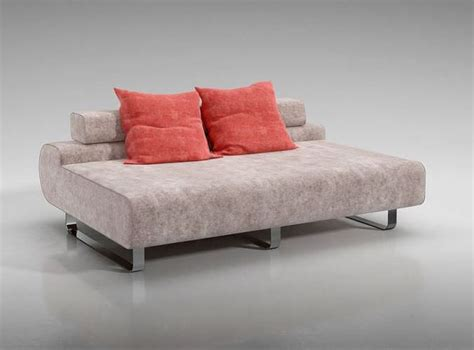 modern low back sofa with throw pillows 3d model