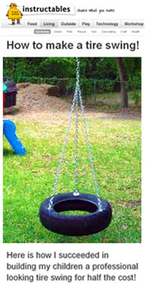 tire swing instructions 12 free swing set plans how to build a swingset