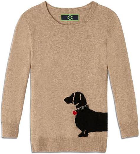 dachshund sweater for c dachshund intarsia sweater in beige coffee multi lyst