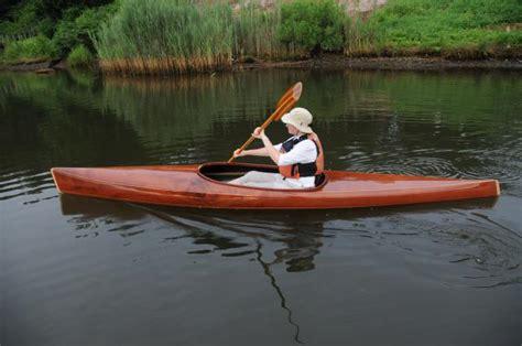 Handmade Wooden Kayak - robin in microbootlegger guillemot kayaks small