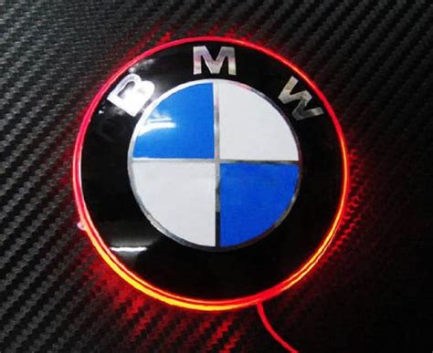 bmw glowing emblem pimp your bmw 82mm background lit trunk roundel now available