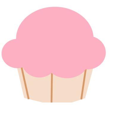 cute cupcake outline clipart