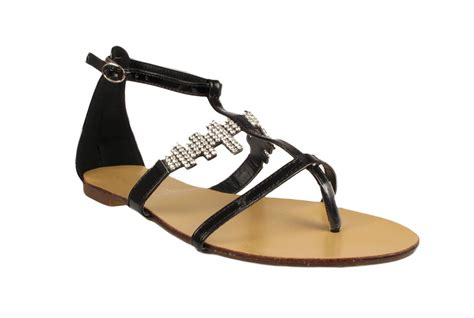 Sandal Gladiator Pria 4 gladiator diamante strappy sandals uk 3 4 5 6 7 8 womens shoes size ebay