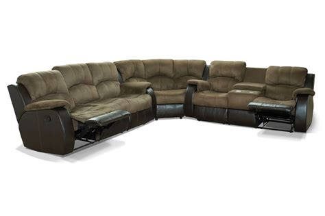 3 recliner sectional lorenzo 3 piece mircofiber reclining sectional at gardner