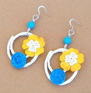 How To Make Earring With Paper - summer paper earrings favecrafts
