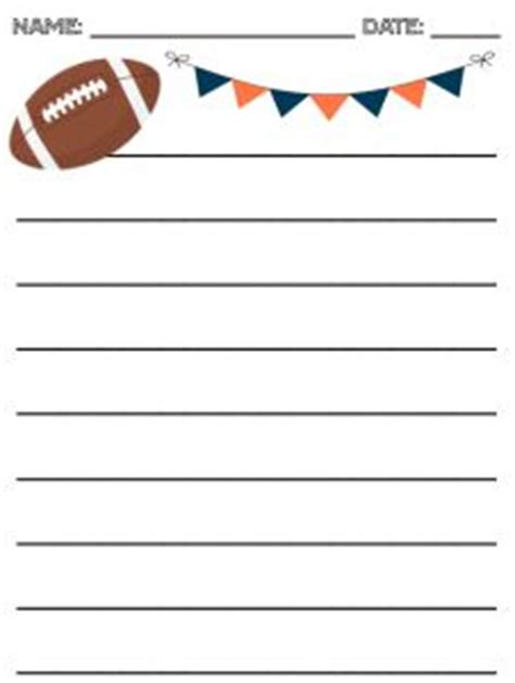 football writing paper pin by theautismhelper on language arts curriculum for