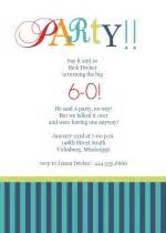 60th birthday party program template party invitations ideas