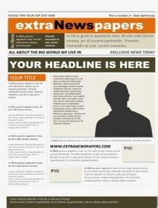 قوالب جاهزة و مجانية لإنشاء جريدة المدرسة تعليم جديد Newspaper Template Microsoft Word