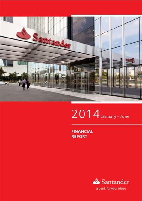 santander bank santander platz 1 financial report 2t14 banco santander