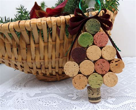 wine cork christmas tree ornaments wine cork tree ornament by goldenvinedesigns on etsy