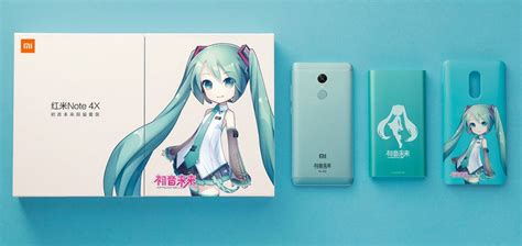 Limited Edition Xiaomi Redmi Note 4x Snapdragon xiaomi redmi note 4x hatsune miku special edition