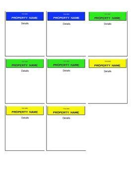make your own monopoly property cards 38 best images about classroom theme on