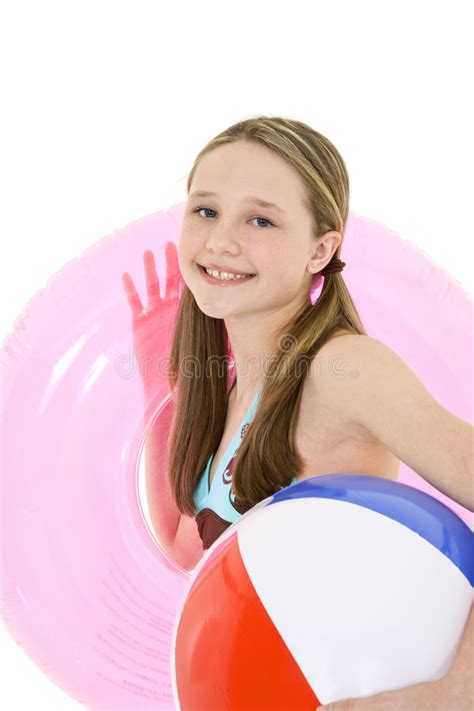 pre teen preteen girl stock photo image of smile swimsuit