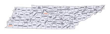 Tennessee Map Counties by Tennessee County Map
