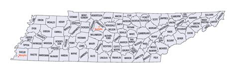 county map of tennessee tennessee county map