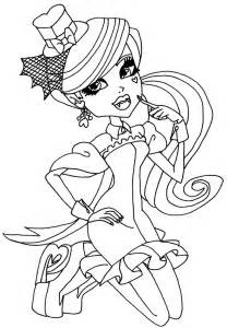 Tout monster high colouring pages