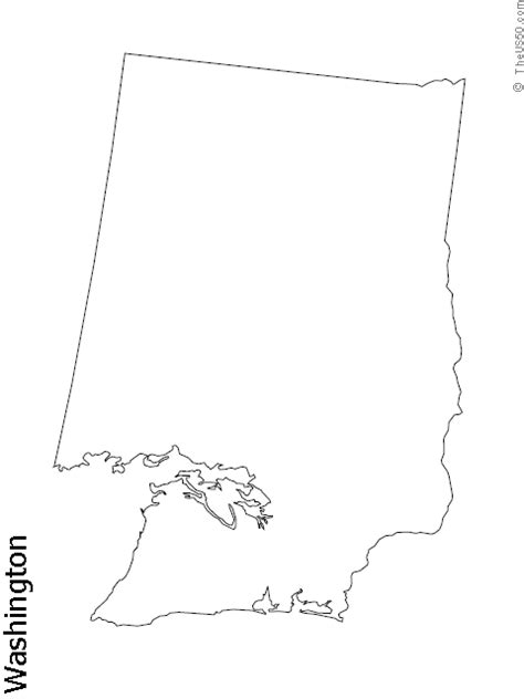 Blank Outline Map Of Washington State by Geography Washington Outline Maps
