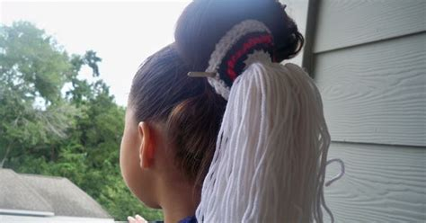 tsiyeel womans hairstyle quick easy navajo tsiyeel bun tutorial navajo land