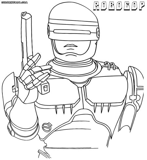 coloring page of a robocop coloring pages coloring pages to and print