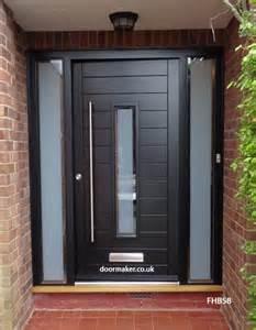 Contemporary Black Front Doors Contemporary Front Doors Oak Iroko And Other Woods Bespoke Doors
