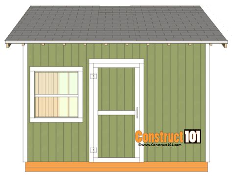 Shed Roof Trim by 12x12 Shed Plans Gable Shed Construct101
