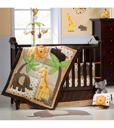 carters bedding carter s sunny safari 4 piece crib bedding set