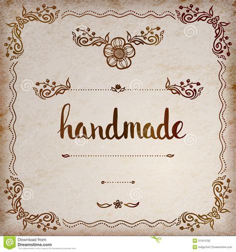 Handmade Lettering - handmade original custom lettering stock vector