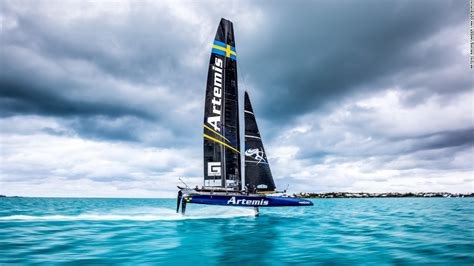 artemis racing boat america s cup emirates team new zealand capsize in