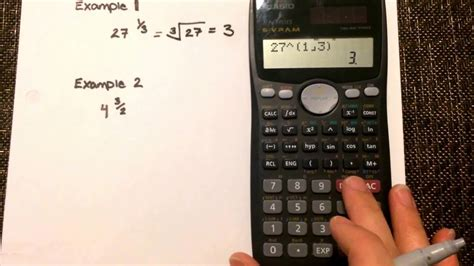 calculator negative fraction exponents calculating values where the exponent