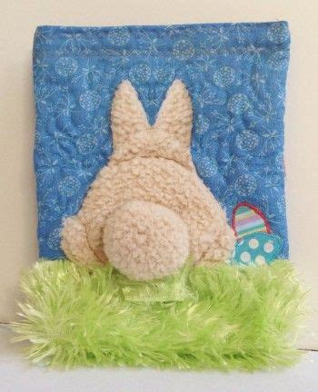 bunny sock wheelchair bunny poo poo quilted easter treat bag sewing