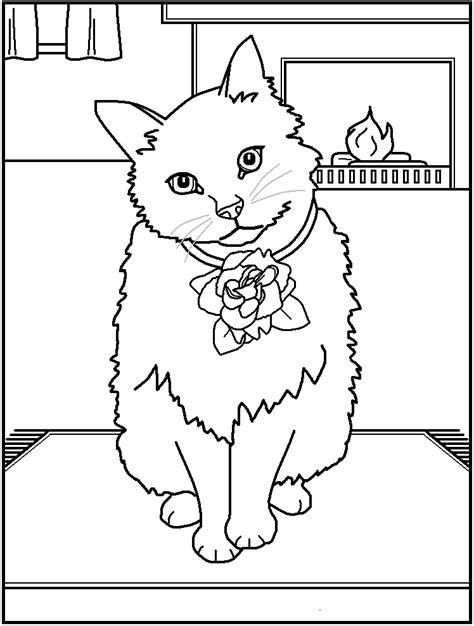 Coloring Page And Cat by Cats Coloring Pages Coloring