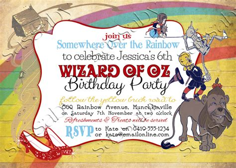 wizard of oz invitations template wizard of oz invitation